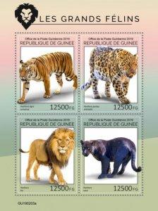GUINEA - 2019 - Big Cats - Perf 4v Sheet - M N H