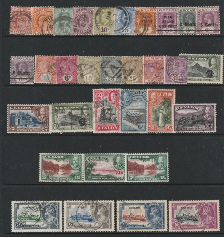 Ceylon a small used lot QV to KGV