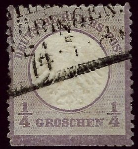 Germany SC#1 Used Trimmed perfs bottom F-VF SCV$87.50...Worth a Close look!!