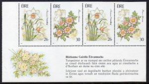 Ireland MNH S/S 811a Garden Flowers 1990 SCV 7.25