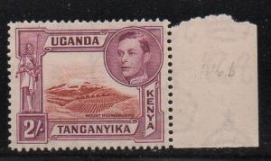 K-U-T Sc 81 1944 2/ G VI & Mt Kilimanjaro stamp mint NH
