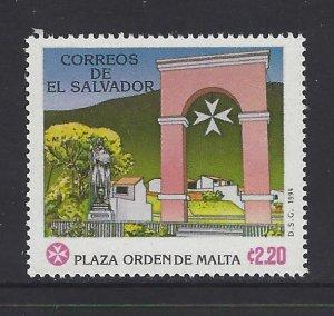 EL SALVADOR PLAZA MILITARY ORDER of MALTA Sc 1374 MNH 1994