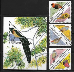 Benin 1204-7 Birds Mint NH