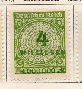 Germany 1923 Early Issue Fine Mint Hinged 4M. 101479
