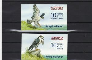 alderney peregrine falcon complete mint stamps booklets ref r11662