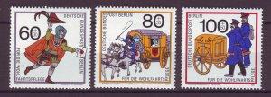 J24995 JLstamps 1989 germany berlin set mnh #9nb272-4 the mail
