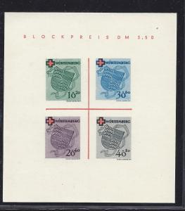 Germany (Wurtetemberg),8NB4a, Coat ot Arms Sheet(4), **MNH**