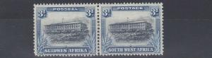 SOUTH WEST AFRICA  1931  S G 77  3D  GREY BLUE/ BLUE  MH