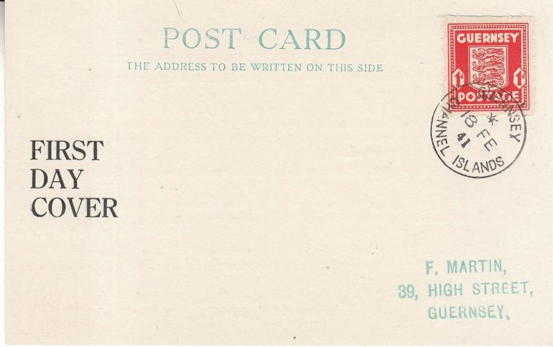 Cover Germany Guernsey 1941 WWII England Invasion War First Day Cover Used