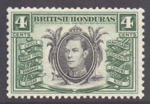Br Honduras Scott 118 - SG153, 1938 George VI 4c MH*