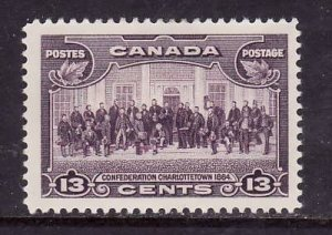 Canada-Sc#224-Unused heavy hinged 13c violet Charlottetown-og-1935-Cdn911-