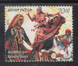 India  2010  # 2474   Kalbelia Dance  India-Mexico Joint Issue     Used    01925