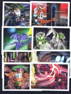 Nicaragua 2020-27 NH 1994 Aliens souvenir sheets