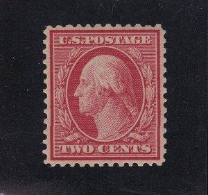 US 358 2c Washington Mint Bluish Paper VF-XF OG H SCV $80