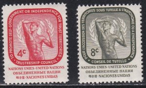United Nations - New York # 73-74, Rodins Age of Bronze LH,