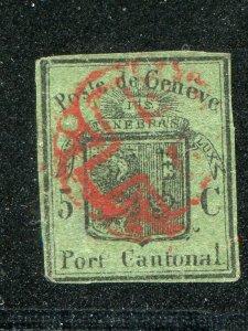 Switzerland  #2L4  Used  VF  certificate  Cat $3000  - Lakeshore Philatelics