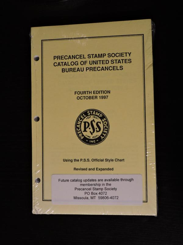 Precancel Stamp Society Oct 1997 4th Ed United States Bureau Catalog