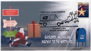 2016  16-376,Half Way to North Pole, Gaylord MI, Christmas, 45th Parallel