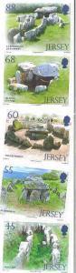 Jersey - Ancient Dolmens - 5 Stamp Set - 10B-001