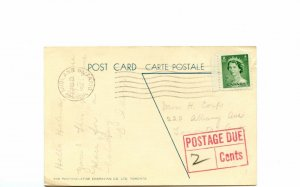 4 x postage due post cards  Canada cover