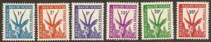 1962 Burkina Faso (Upper Volta) Scott J21-J26 Postage Dues MNH