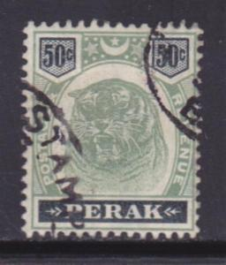 Perak 56 F-VF-used neat cancel nice color scv $ 200 ! see pic !