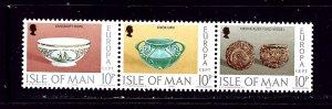 Isle of Man 91a MNH 1975 Europa strip of 3