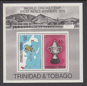 Trinidad and Tobago 261a Cricket Souvenir Sheet MNH VF