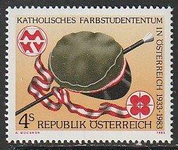 1983 Austria - Sc 1241 - MNH VF - 1 single -  Catholic Students' Org