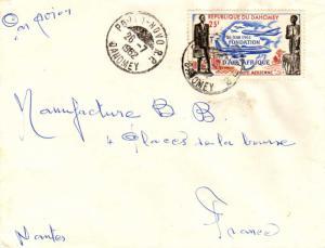 Dahomey 25F Founding of Air Afrique 1962 Porto-Novo R.P. Dahomey Airmail to N...
