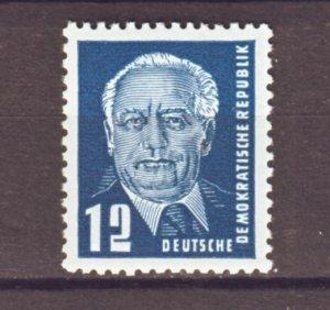 J22286 Jlstamp 1952-3 germany ddr part of set mh #114 pieck type