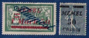 MEMEL MLH Sc #C12 Airmail With Sc #59 Very Fine