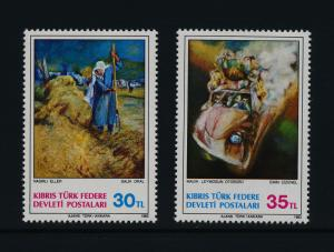Turkish Republic of Northern Cyprus 125-6 MNH Art, Paintings