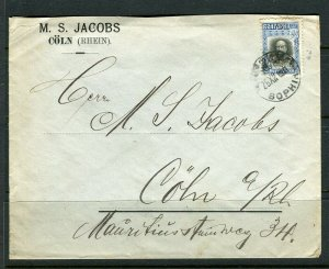 BULGARIA; LETTER/COVER early 1900s fine used Sophia to Coln Germany