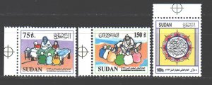 Sudan. 1999. 531-33. International Year of Older Persons. MNH.