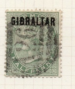 Gibraltar 1886 Early Issue Fine Used 1/2d. Optd 276217