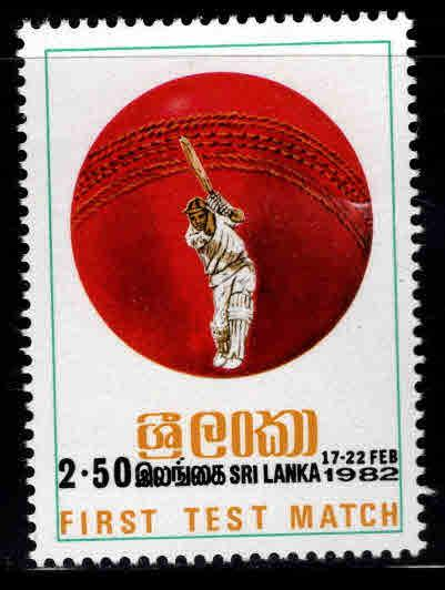 Sri Lanka Scott 627 MNH** 1982 Cricket stamp
