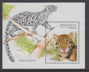 Benin 849 Wild Cat Souvenir Sheet MNH VF
