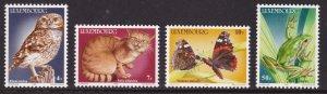 Luxembourg, Fauna, Birds, Animals, Frogs, Butterflies MNH / 1985