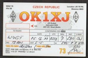 QSL CARD Jiri Kubat,OK1XJ,03, Czech Republic(Q4435)