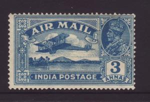 1929 India 3 Annas Airmail Mint SG221