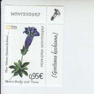2016 Montenegro Velemun Plant (Scott 396) MNH