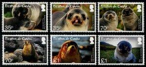 HERRICKSTAMP NEW ISSUES TRISTAN DA CUNHA Sc.# 1104-09 Fur Seals
