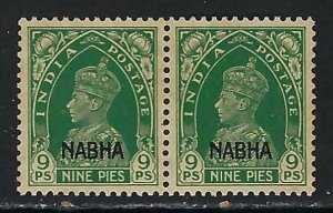 INDIA NABHA 89 MNH PAIR Z2745
