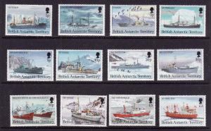 British Antarctic Territory-Sc#202-13-unused NH set-Ships-1993-
