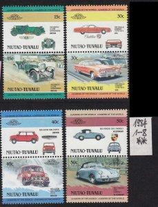 TUVALU [Niutao] MiNr 0001-08 ( **/mnh ) Autos