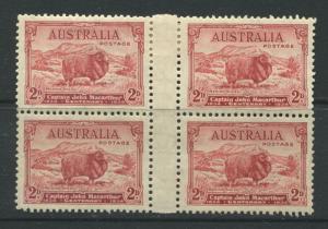 Australia 1934 2d, 3d, & 9d Sheep set in mint o.g. blocks of 4