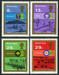 Guernsey 246-249, MNH. Scouting Year. Sea Scouts, Cub Scouts, 1982