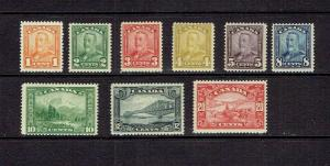 CANADA 1928  KING GEORGE V SCROLL ISSUE - SHORT SET SCOTT 149 TO 157 -  MNH