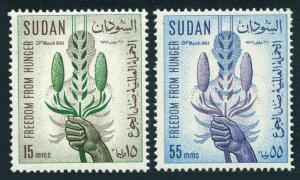 Sudan 160-161 blocks/4,MLH/MNH.Mi 193-194. FAO Freedom from hunger campaign,1963